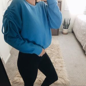 Cropped Blue Mossimo Sweater Small